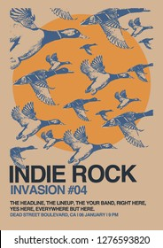 Indie Rock Invasion 4 Gig Poster Flyer Template