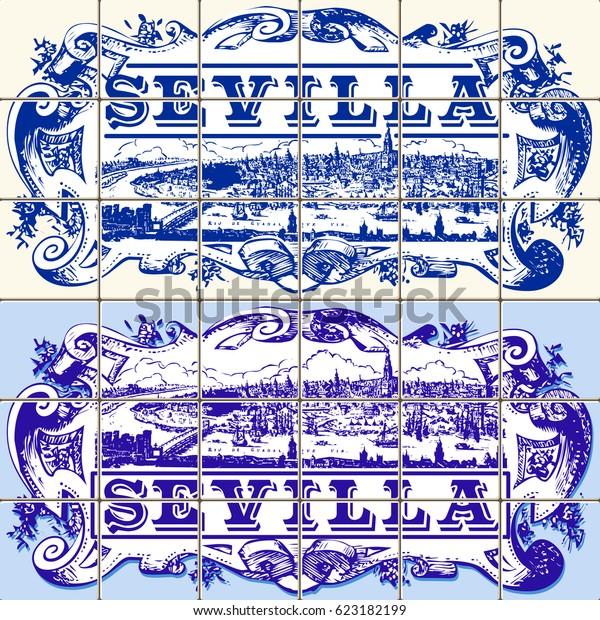 Image Vectorielle De Stock De Motif Indigo Blue Azulejos Seville Motif 623182199