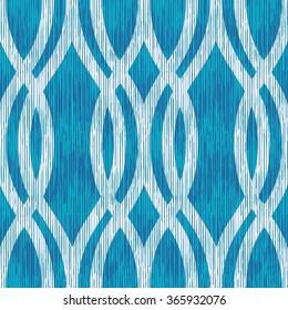 Indigo ogee ovate lattice  pattern seamless vector background tile