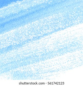 Indigo white watercolor hand drawn paper texture line striped vector background for card, text design, web. Aquarelle abstract bright  cold color brush paint square element for wallpaper, blank, tag