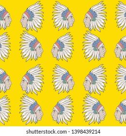 Indio Apache Graphic Pattern Yellow