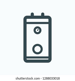 Indirect heating boiler icon, indirect water boiler vector icon