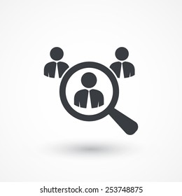 Individual talent icon. Looking For An Employee. Looking For Talent. Search for businessman. Flat icon design