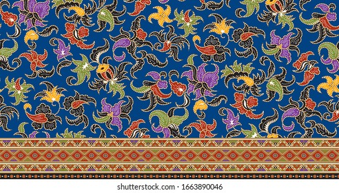 Indonesia Batik Textile Ornament Pattern