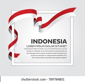Indonesia flag background