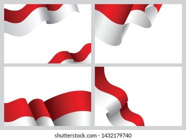 Indonesia flag concept background Vector Illustration