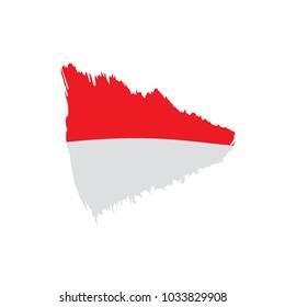 Indonesia flag, vector illustration