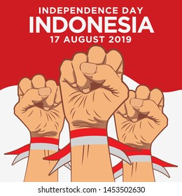 Indonesia independence day background Premium Vector
