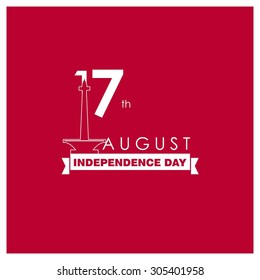 Indonesia Independence Day poster. Beautiful typography style. Vector 15 August template Celebration Day Card illustration