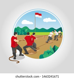 Indonesia Independence Tug Of War Games