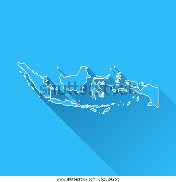 indonesia map long shadow white outline stock vector royalty free 662624263 https www shutterstock com image vector indonesia map long shadow white outline 662624263