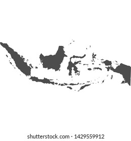 indonesia map vector on white