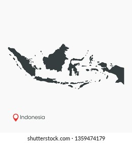 Indonesia Map Vector Template Isolated