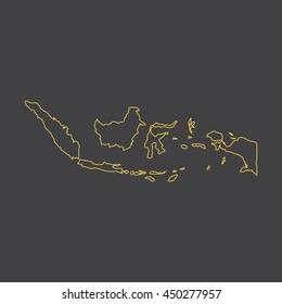 Indonesia map,outline,stroke,line style