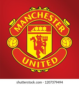 Indonesia Sidoarjo, Sep 2018: Manchester United Football Club logo vector template professional football club in Manchester England