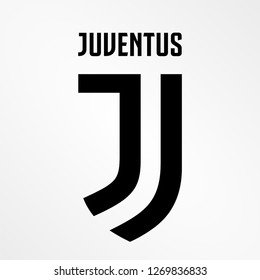 Indonesia Sidoarjo, Sep 2018: vector template new icon logo Juventus Football Club colloquially known as Juve, is a professional Italian Serie A football club in Turin