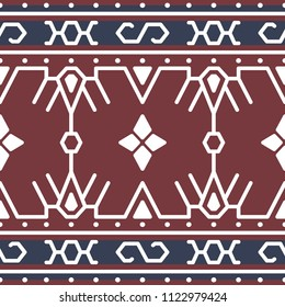 Indonesia Traditional Fabric Pattern, Tenun Sumba Vector Design Etnic Soga
