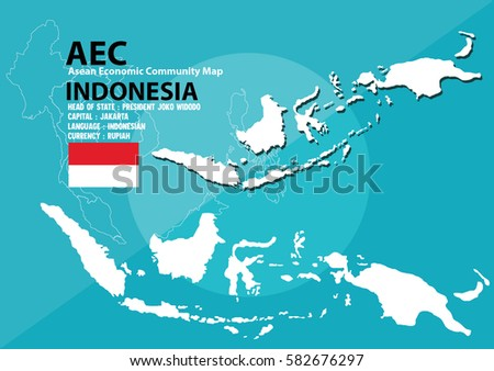 Indonesia World Map Indonesia Southeast Asia Stock Vector (Royalty ...