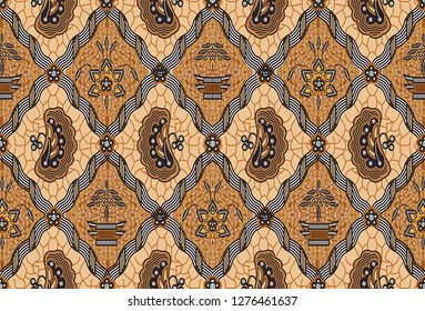 Indonesian batik motif, Batik is a technique of wax-resist dyeing applied to whole cloth, or cloth made using this technique originated from Indonesia