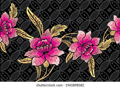 Indonesian batik motifs with very distinctive patterns. exclusive backgrounds. Vector Eps 10