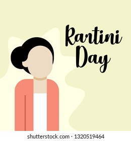 Indonesian Emancipation of Women Kartini Day Illustration