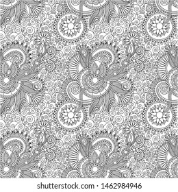 indonesian floral ornament background traditional vector