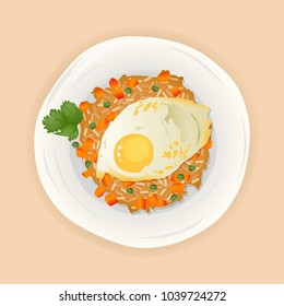 Indonesian Fried Rice With Sunny Side Up Topping
