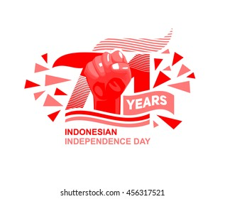 Indonesian Independence day logo Concept. Vector Background Eps. 10
