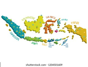 INDONESIAN MAP vector Illustration