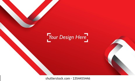 Indonesian patriotic background template with empty space for text, design, Holidays, Independence Day. Welcome to Indonesia concept - Vector