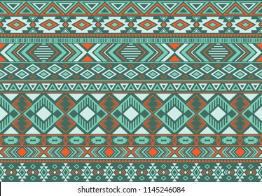 Indonesian pattern tribal ethnic motifs geometric seamless vector background. Cool boho tribal motifs clothing fabric textile print traditional design with triangle and rhombus shapes.