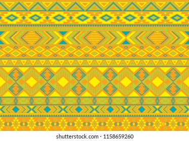 Indonesian pattern tribal ethnic motifs geometric seamless vector background. Rich ikat tribal motifs clothing fabric textile print traditional design with triangle and rhombus shapes.