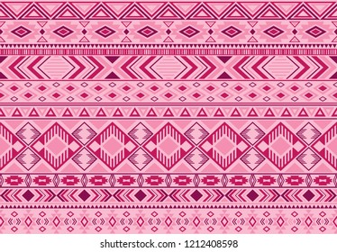 Indonesian pattern tribal ethnic motifs geometric seamless vector background. Graphic ikat tribal motifs clothing fabric textile print traditional design with triangle and rhombus shapes.