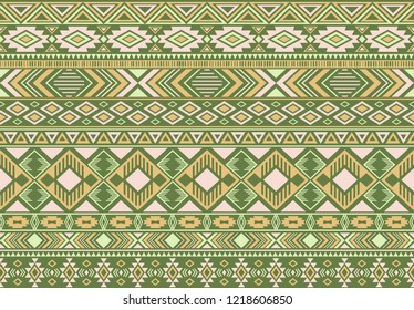 Indonesian pattern tribal ethnic motifs geometric seamless vector background. Fashionable boho tribal motifs clothing fabric textile print traditional design with triangle and rhombus shapes.