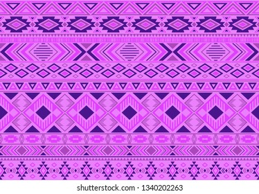 Indonesian pattern tribal ethnic motifs geometric seamless vector background. Modern ikat tribal motifs clothing fabric textile print traditional design with triangle and rhombus shapes.