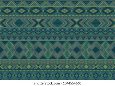 Indonesian pattern tribal ethnic motifs geometric seamless vector background. Modern indonesian tribal motifs clothing fabric textile print traditional design with triangle and rhombus shapes.