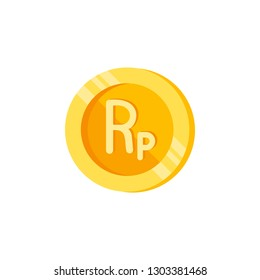 Indonesian rupiah, coin, money color icon. Element of color finance signs. Premium quality graphic design icon. Signs and symbols collection icon for websites, web design
