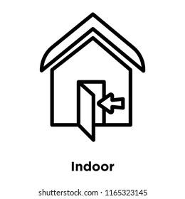Indoor icon vector isolated on white background, Indoor transparent sign