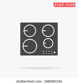 Induction hob. Cooktop cooking panel, surface. Induction stove. Flat design style minimal vector illustration icon for web design