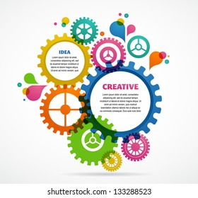 Industrial abstract colorful background design