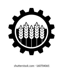 Industrial and agricultural icon
