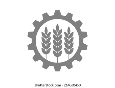 Industrial and agricultural icon on white background