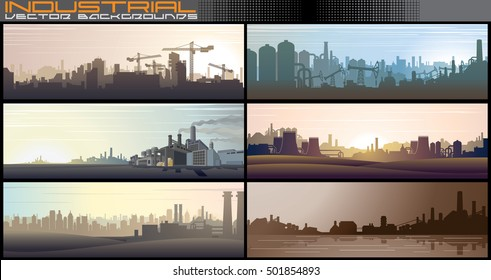 Industrial Background. Business Background. Urban Background. Abstract Vector Background for Banners