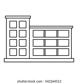 Industrial building icon. Outline illustration of industrial building vector icon for web