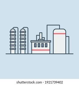 Industrial buildings vector icon illustration
