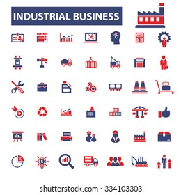 industrial business, factory, industry, market icons, signs vector concept set for infographics, mobile, website