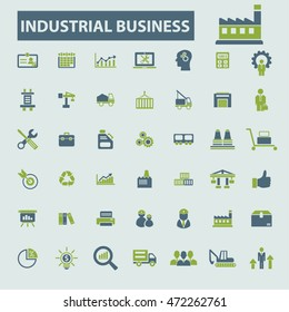 industrial business system icons