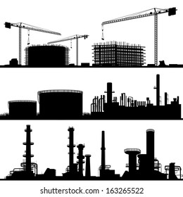 industrial city, Construction Site, refinery and power plant