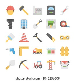 Industrial and Construction Vector Icons Set