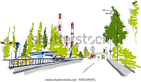 Industrial district sketch